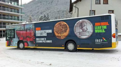 Promotion on Davos Bus